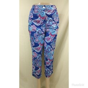 Chico's Multicolored Floral Women Pants Size 1.5